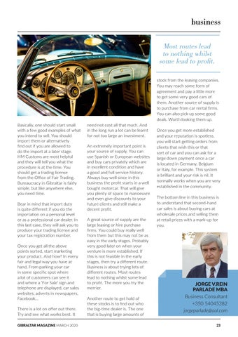 Page 23 of The A-Z of Business: Starting a Second-Hand Car Sales Business