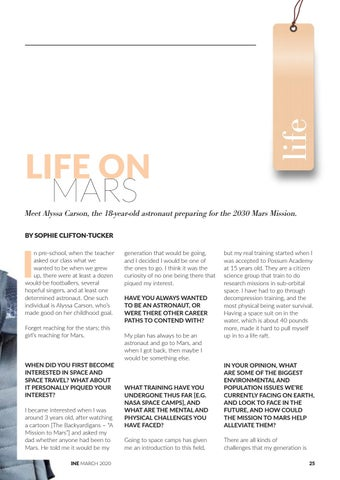 Page 25 of Life on Mars: World's Youngest Astronaut