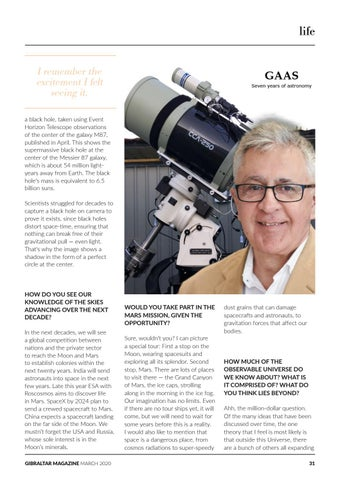 Page 31 of Reach for the Stars: Gibraltar Amateur Astronomers Society