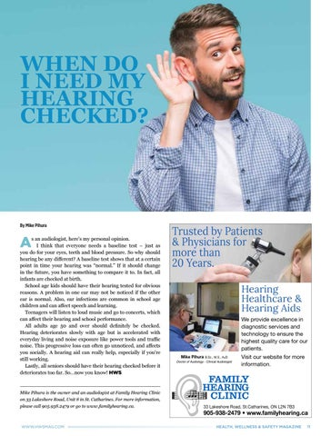 Page 11 of When Do I Need My Hearing Checked?