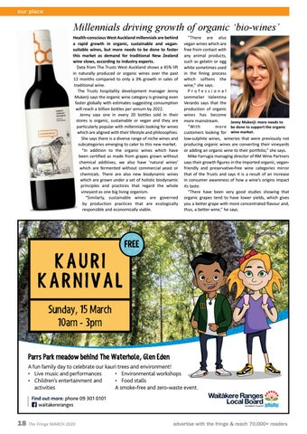 Page 18 of Millennials driving growth of organic 'bio-wines