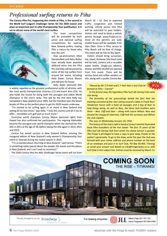 Page 6 of Professional surfing returns to Piha