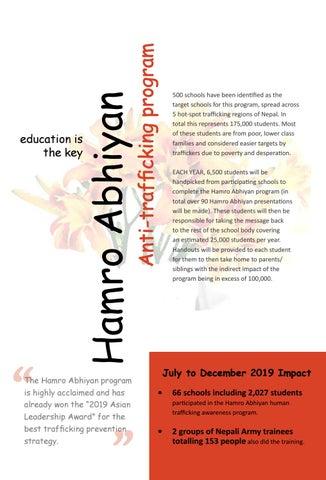 Page 20 of Hamro Abhiyan Anti-Trafficking Educational Program