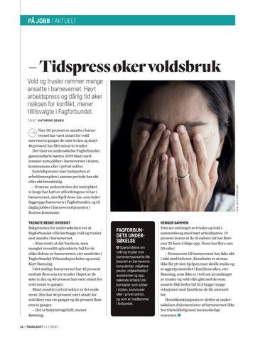 Page 16 of Tidspress fører til mer vold og trusler på jobben