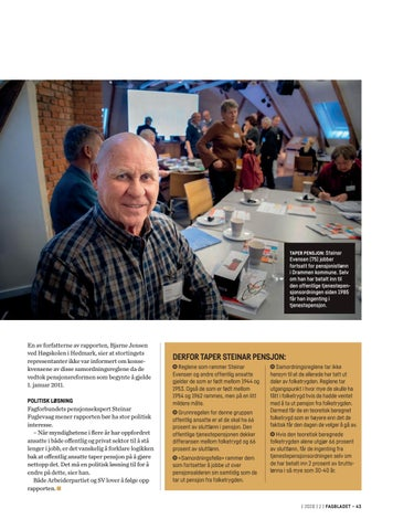 Page 43 of Steinar jobbet etter fylte 67 år, tapte tjenestepensjonen