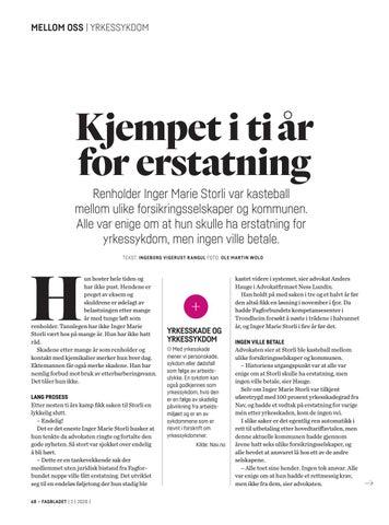 Page 68 of Etter ti års kamp fikk Inger Marie erstatning for yrkessykdom