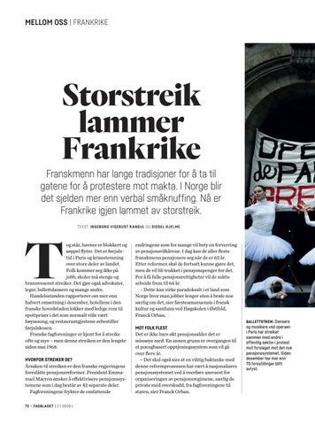 Page 72 of Franske ansatte streiker mot regjeringens pensjonsreform