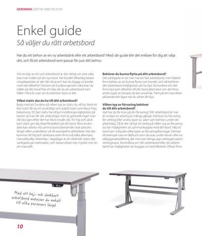 Page 10 of Guide till rätt arbetsbord
