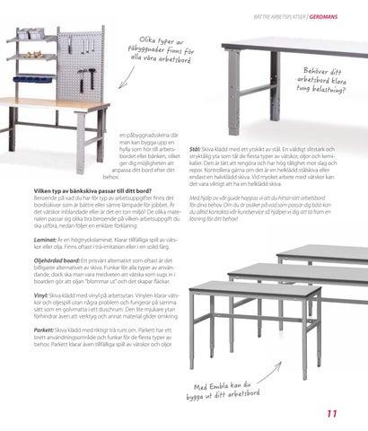 Page 11 of Guide till rätt arbetsbord