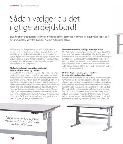 Page 10 of Guide til det rigtige arbejdsbord
