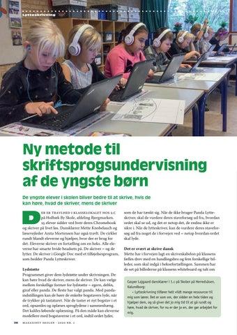 Page 26 of Ny metode til skriftsprogs undervisning af de yngste børn