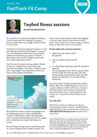 Page 10 of FastTrack Fit Camp: Twyford fitness sessions
