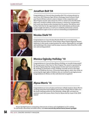 Page 64 of Alumni Spotlight