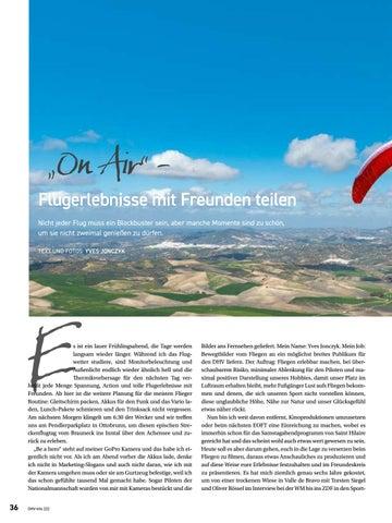 Page 36 of On air – Flugerlebnisse mit Freunden teilen