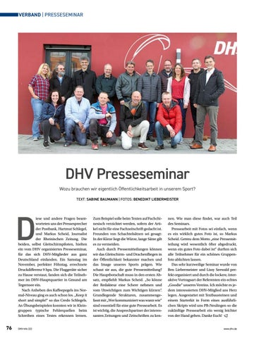Page 76 of DHV-Presseseminar