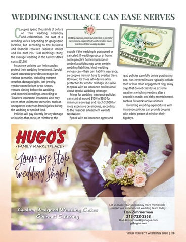 Page 29 of WEDDING INSURANCE