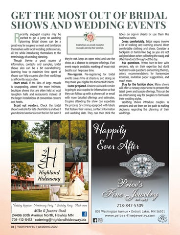 Page 36 of GET THE MOST OUT OF BRIDAL SHOWS