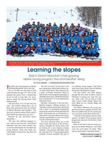 Page 13 of LEARNING THE SLOPES