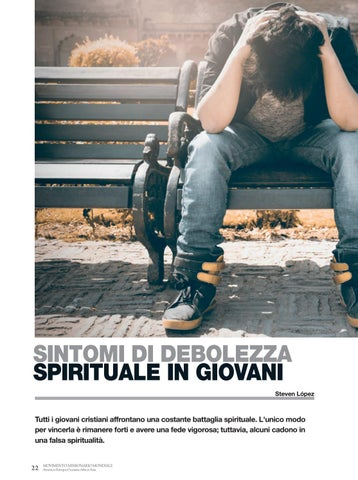 Page 22 of Gioventù SINTOMI DI DEBOLEZZA
