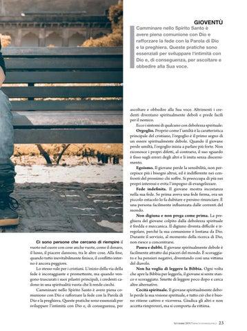 Page 23 of Gioventù SINTOMI DI DEBOLEZZA