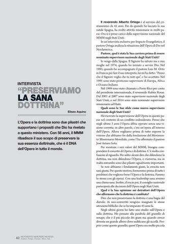 """Page 42 of Intervista """"PRESERVIAMO LA SANA"""