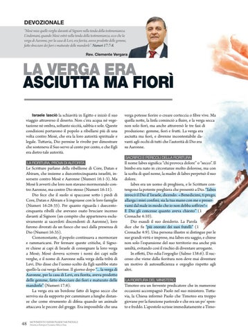 Page 48 of Devozionale LA VERGA ERA ASCIUTTA MA FIORÌ
