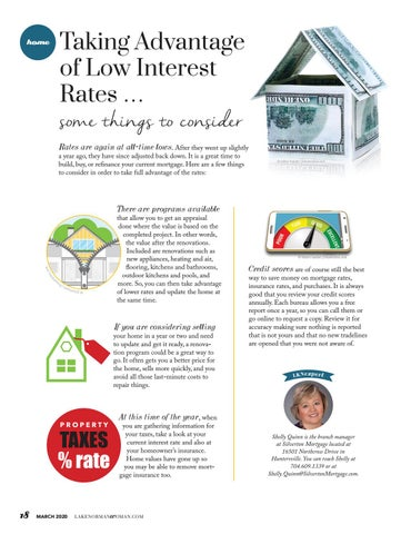 Page 18 of Taking Advantage Of Low Interest Rates … Some Things To Consider