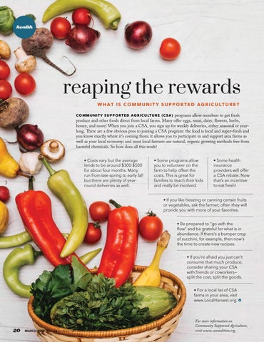 Page 20 of Reaping The Rewards What Is Community Supported Agriculture?