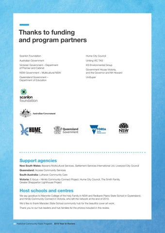Page 34 of Thanks to funding and program partners