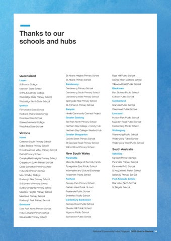 Page 35 of Thanks to our schools and hubs