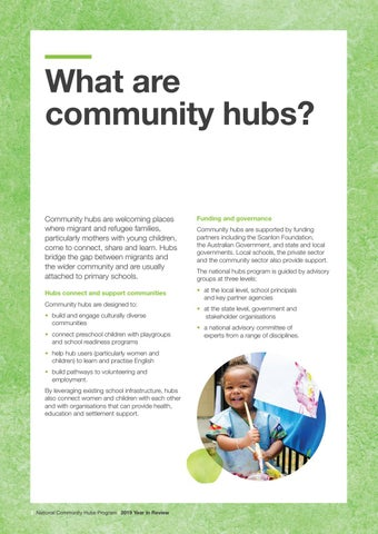 Page 4 of What are community hubs?