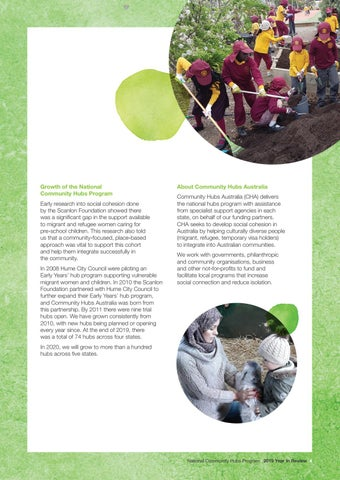 Page 5 of What are community hubs?