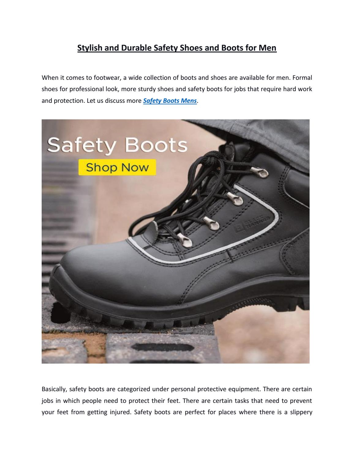 Durable Safety Shoes and Boots for Men