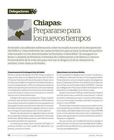Page 50 of Chiapas: Prepararse para los nuevos tiempos