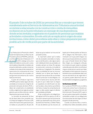 Page 65 of Invitaciones del SAT para actividades vulnerables