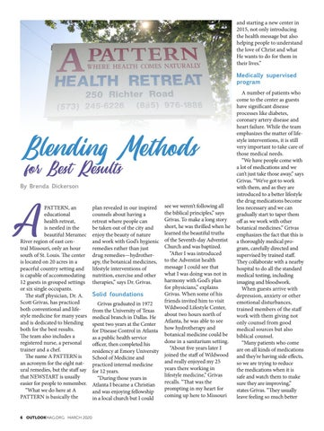 Page 6 of A PATTERN HEALTH RETREAT: BLENDING METHODS FOR BEST RESULTS