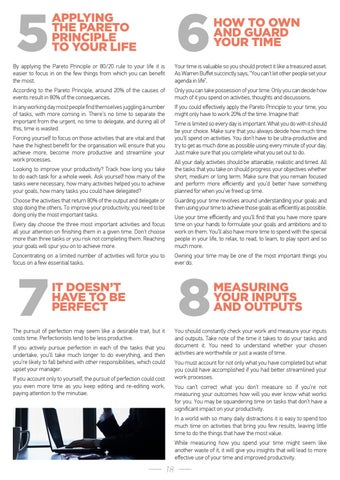 Page 18 of MEASURING YOUR INPUTS AND OUTPUTS
