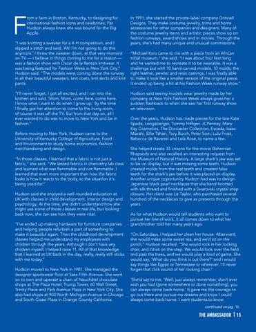 Page 15 of ALUMNI FOCUS - Pat Hudson