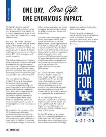 Page 18 of PHILANTHROPY - One Day. One Gift. One Enormous Impact.