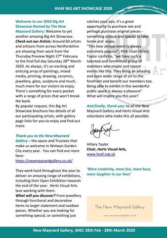 Page 2 of Herts Visual Arts Big Art Showcase 2020