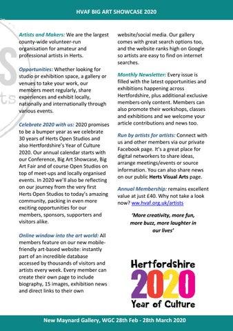 Page 3 of Herts Visual Arts Big Art Showcase 2020