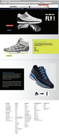 ordenar Baño Instruir  Adidas Microsite - Website Design by Rajavi Shah - issuu
