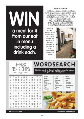 Page 19 of Y-Pass Wordsearch