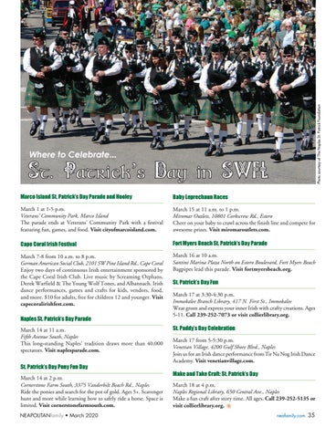 Page 35 of St. Patrick' s Day. Plan where to celebrate the holiday in SWFL