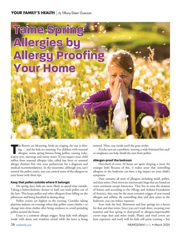 Page 38 of T ame Spring Allergies. Learn how to allergy proof your home