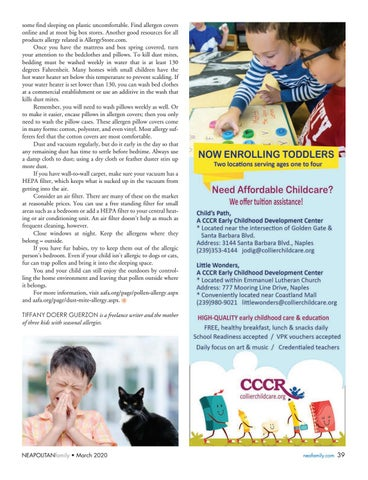 Page 39 of T ame Spring Allergies. Learn how to allergy proof your home