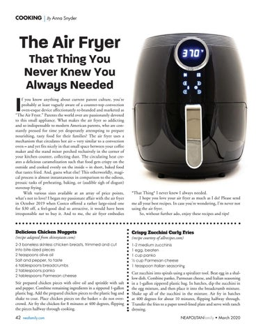 Page 42 of Cooking. Find out why you need an air fryer, and try some new recipes