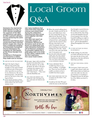 Page 14 of Q&A: Groom's percpective