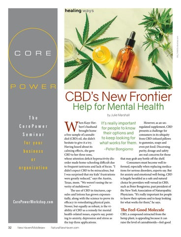 Page 32 of CBD'S NEW FRONTIER