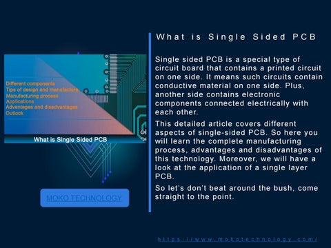 The Introduction Of Single Sided Pcb By Mokotech666 Issuu